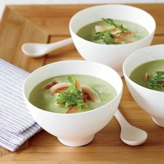 This tangy, luscious soup is an excellent make-ahead dish: Simply puree everything except the garnish, then chill. For a milder version, scale back on...