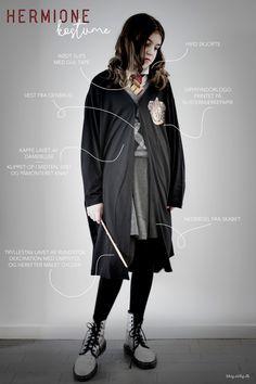 Hermione kostume - lavet af det du har i skabet (næsten).