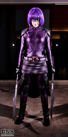 Jess Herrlein Cosplayer als Hit-Girl aka Mindy