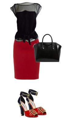"""""""Bez naslova #5"""" by pomog ❤ liked on Polyvore featuring Paule Ka, Prada, Louis Vuitton and Givenchy"""