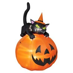 Animated Airblown Cat & Jack O' Lantern.Opens in a new window