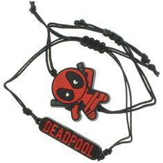 Marvel Deadpool Kawaii Chibi Character Design 2pc Bracelet Set ($14) ❤ liked on Polyvore featuring jewelry and bracelets