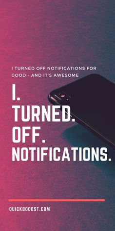 If you're serious about being productive, I highly recommend turning off your notifications. Here's what I did to enhance my focus like never before. #productive #productivity #focus Time Management Activities, Time Management Printable, Time Management Quotes, Good Time Management, Productive Things To Do, Things To Do At Home, Things To Do When Bored, Productive Day, Getting Things Done