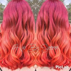 Fiery colormelt by @couturehair!