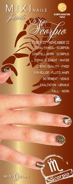 Zodiac Nails: Scorpio by Mixi Minx