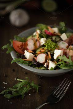 Mixed salad by Screeny's Photo Bucket on Creative Market