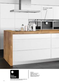 iPaper  wooden countertop continues as end piece