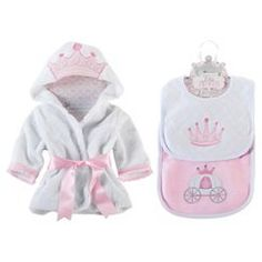 Baby Aspen Princess Bundle of Princess Robe and Princess Bibs
