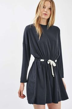Batwing Drawcord Dress - New In- Topshop