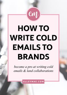 Tweet Share 0 +1 Pinterest 0 LinkedIn 0 When you're new to working with brands as a blogger, sending cold emails can be awfully daunting. How do I sell my pitch without sounding needy? How do I stand out from the crowd & set myself apart from the competition? What…
