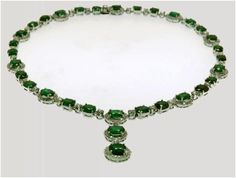 """Gemstone Darling""...only $12,800 or P563,200! 5.86ct Diamond & Emerald Necklace /14K/35.460g! Imported, world-class quality, not pre-owned, not pawned, not stolen. We deliver worldwide <3"