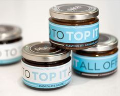 Love simple shaped glass jars like this with lug caps, then simply use lovely labels to make it stands out.