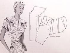 1940s Dress Design Book Draping Flat Pattern Making Methods Hillhouse