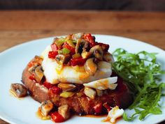 Oven-baked Cod on Hot Mushroom Salsa