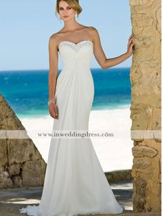 This is the dress!! almost lol just needs the straps and flowing train in back :)