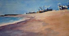 Ian Potts Artist: Boats at Hastings waiting to join the sea University Of Kent, John Ruskin, Winslow Homer, Andrew Wyeth, Edward Hopper, Singer Sargent, Waiting, Ocean, River