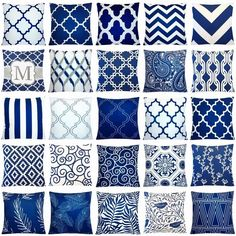 couch pillows 594123375830613978 - Source by leighpridgen Navy And White Living Room, Blue And White Pillows, Blue Cushions, Estilo Hampton, Living Room Decor, Bedroom Decor, Sofa Bed Home, Cushion Inserts, Pillow Inserts