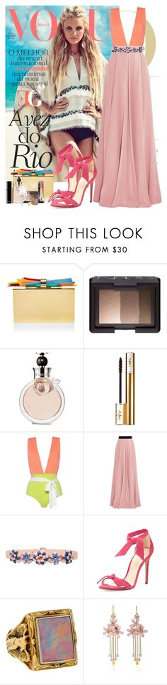 """Smooth operator"" by eleonoragocevska ❤ liked on Polyvore featuring Edie Parker, NARS Cosmetics, Valentino, Yves Saint Laurent, Roksanda, Marina Hoermanseder, Chanel, Alexandre Birman, Bailey Banks & Biddle and Elie Saab"