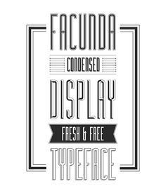 Facunda Free Font - a nice little display font in five styles.