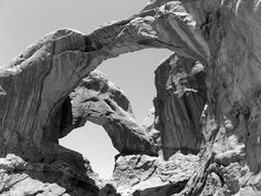 Ansel Adams - Double O Arch, Arches National Park,   Flickr - Photo Sharing!