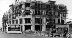 Then and Now photos: The Montgomery Ward Building, built in 1929. It now houses City Hall. #spokane #history