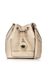 Bucket Bag with Circle Lock