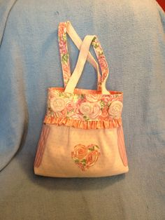 Upcycled purse from a sweater- shabby chic!