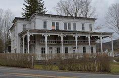The Lexington House, an abandoned hotel or inn in Lexington, NY