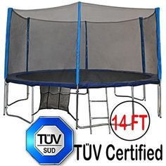 "Buy with cheap : ""TÜV Approved Zupapa® 12 14 15 Ft Trampoline Combination Include Net Enclosure net + Safety Pad + Ladder + Mat Springs + Shoes Bag + Cover and T-hook"" Fun Trampoline Games, Trampoline With Net, Toddler Trampoline, Kids Store, Toy Store, Trampolines For Sale, Jumping For Joy, Spring Shoes"
