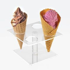 Cal Mil 396 Four Cone Ice Cream Cone Pedestal - 19.99 each ... wonder if Calvin can make something like this from acrylic, wood, or maybe even a polished/welded metal or some material I haven't thought of? Hmmmm...