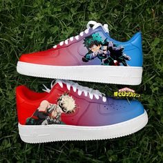 My Hero Academia Air force one Sneakers For Sale, Custom Sneakers, Custom Shoes, Sneakers Nike, Painted Sneakers, Painted Shoes, Air Force One, Nike Shoes Air Force, Nike Basketball Shoes