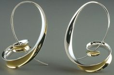 Sterling silver hoops earrings by Nancy Linkin