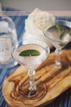 Lavender Martinis: so pretty!