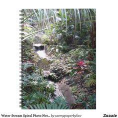 Water Stream Spiral Photo Notebook