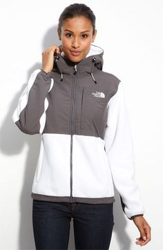 North Face Denali Hooded Jacket in White -- I've ALWAYS wished these had hoods! Hooray! $179