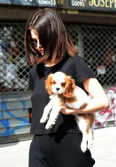 Selena Gomez with her puppy, Charlie