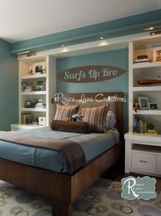 Surfs Up Bro Surfboard Wall Decal by Royce Lane Creations.