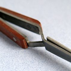 SOLDERING TWEEZERS Cross Lock Curved for Holding Your by Forgeron, $3.35