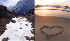 Wherever you are, you are loved. #mountains #beach #love #hearts