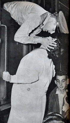 leaving Fort Hood by train september 1958