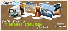 Enter to win a free cruise for 2! #Cruiseone #vacation #summer #cruise #trip #travel www.FinchersAdventures.com