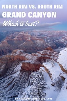 Is the North Rim or South Rim of the Grand Canyon better to visit? Here's a comparison of both! Family Road Trips, Family Travel, Bucket List Family, Usa Travel, East Coast, Grand Canyon, Travel Destinations, Places To Visit, Family Trips