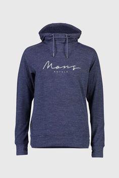 Mons Royale Women's Covert Lite Funnel Hood - Merino & Tencel - Weekendbee - sustainable sportswear Hoodies, Sweatshirts, Sportswear, Fashion, Moda, Fashion Styles, Parka, Trainers, Sweatshirt