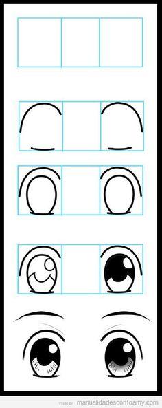 He aquí un tutorial paso a paso para aprender a dibujar paso a paso y de unos preciosos ojos en muñecas fofuchas o cualquier muñeca de goma eva que hagáis.  <!-- if(wpa2a)wpa2a.script_load(); //-->…