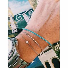 Bangle it up. Layered Jewelry, Bangles, Bracelets, Turquoise, Jewels, Photo And Video, Shopping, Book, Summer