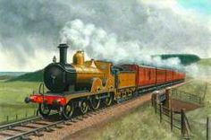 midland and great northern joint railway 4 4 0 locomotive no Great Northern Railroad, Train Illustration, National Railway Museum, Steam Railway, Liverpool Street, Train Art, Train Pictures, Art Uk, Isle Of Wight