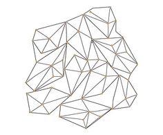 Decorazione da parete in metallo Origami, 84x83x7 cm
