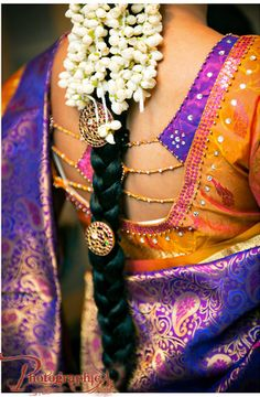 South Indian Woman w/ Jasmine flowers in her hair