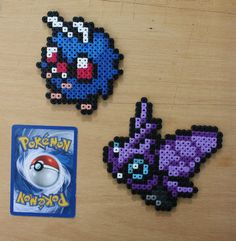 Pokemon - Mini Bead Sprites Venonat Venomoth by strepie93.deviantart.com on @deviantART
