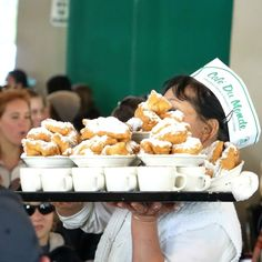 Cafe Du Monde, a New Orleans must-do ~ The beignets are warm and yummy and you will end up wearing a dusting of the powdered sugar! The coffee is the best!  Bon Appétit: New Orleans is for Food Lovers